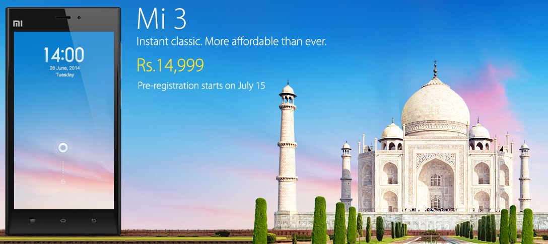 BRACE YOURSELF! XIAOMI Mi3 IS COMING FOR 14,999 RUPEES!