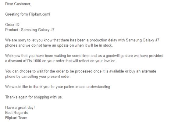 Galaxy J7 delay